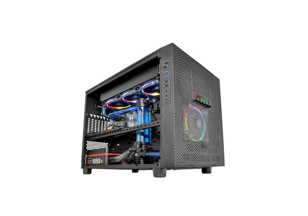 thermaltake core x5 e atx cube chassis review funkykit. Black Bedroom Furniture Sets. Home Design Ideas