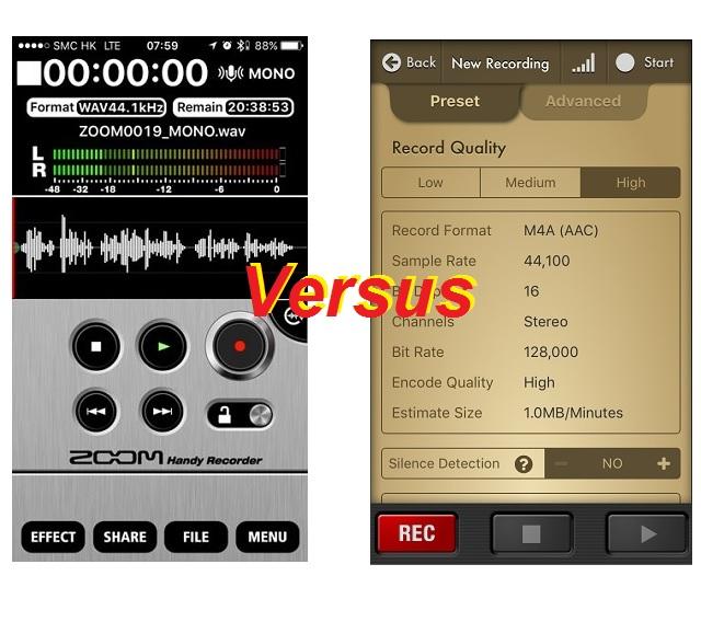 recorders versus