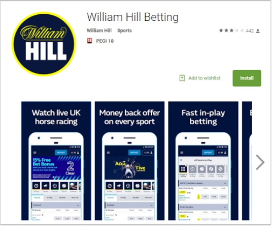 William Hill Apps available for your current device